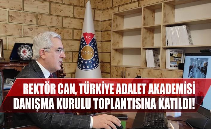rektor can turkiye adalet akademisi danisma kurulu toplantisina katildi ozgur haber