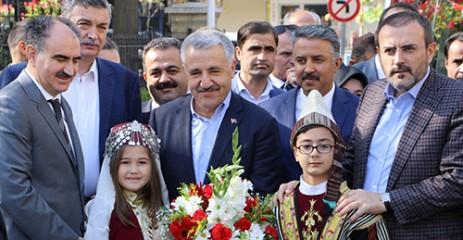 Bakan Arslan Kahramanmaraş'ta