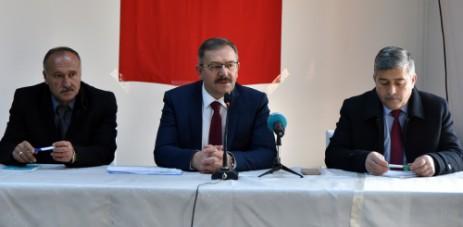 Başkan Aydın, Muhtarlarla İstişare Toplantısı Yaptı