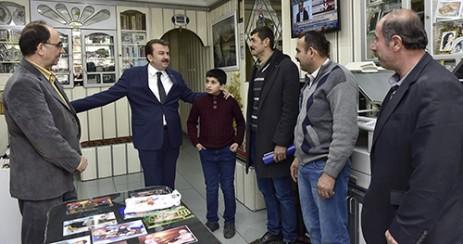 Başkan Erkoç Yeni Hükümet Caddesi'nde