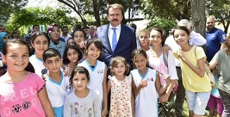 Başkan Erkoç'tan Yaz Spor Okulu'na Ziyaret