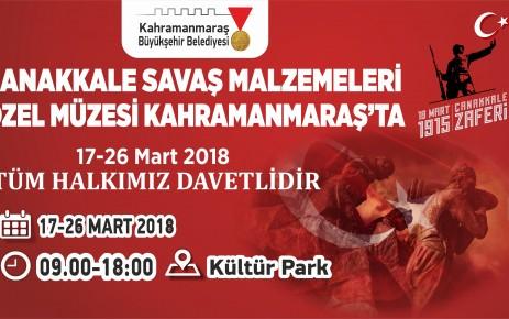 Çanakkale Savaş Malzemeleri Müzesi Kahramanmaraş'ta