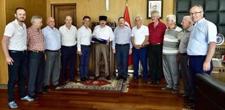 Kafkas Kültür Derneği'nden Başkan Erkoç'a Ziyaret