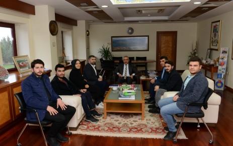 KSÜ DAKİK Öğrenci Topluluğu, Rektör Deveci'yi Ziyaret Etti