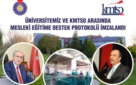 KSÜ ve KMTSO Arasında Mesleki Eğitime Destek Burs Protokolü İmzalandı