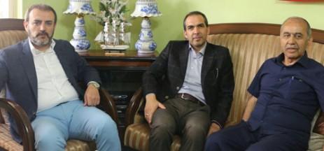 Mahir Ünal'dan Fiskeci'ye Geçmiş Olsun Ziyareti