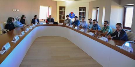 Milli Türk Talebe Birliği Üyeleri, Rektör Deveci'yi Ziyaret Etti