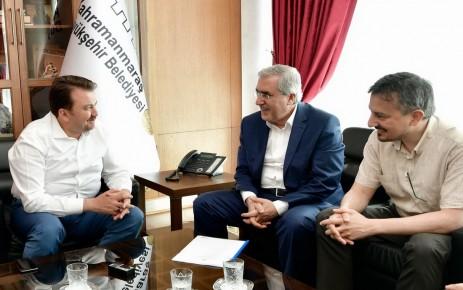 Rektör Can, Başkan Erkoç'u Ziyaret Etti