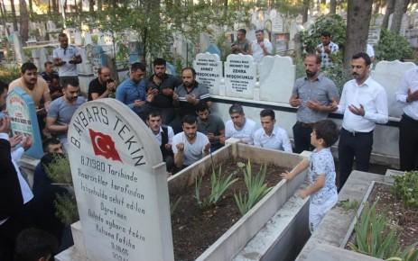 Şehit Bleda Aybars Tekin Vefatının Yıldönümünde Mezarı Başında Anıldı