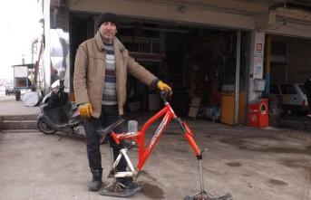 'Akdeniz'in Sibiryası' Göksun'a Kar Bisikleti Yaptı