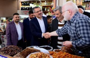 Başkan Güngör'den Esnaf ve Vatandaş Ziyareti