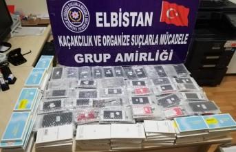 Elbistan'da 505 Adet Kaçak Cep Telefonu Ele Geçirildi