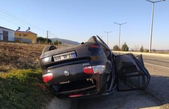Pazarcık''ta Takla Atan Otomobildeki 6 Kişi Yaralandı