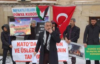 Afşin'de, ABD'nin Sözde Orta Doğu Barış Planı Protesto Edildi
