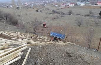 Nurhak'ta Traktör Uçuruma Yuvarlandı