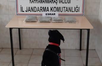 Pazarcık'ta 2 Kilogram Esrar Ele Geçirildi