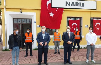 Pazarcık Belediye Başkanı Yılmazcan'dan Sıradışı Dezenfekte