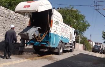 Kahramanmaraş'ta Çöp Konteynerleri Tek Tek Yıkanıyor