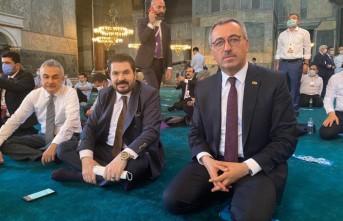Başkan Güngör Ayasofya Camii'nde