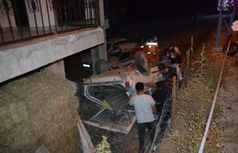 Kahramanmaraş'ta Evin Bahçesine Devrilen Otomobilin Sürücüsü Öldü