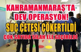 Kahramanmaraş'ta Organize Suç Örgütüne Dev Operasyon