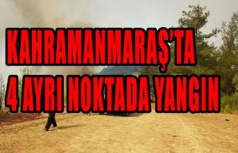 Kahramanmaraş'ta 4 Ayrı Noktada Yangın