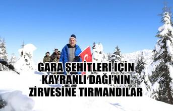 Gara Şehitleri İçin Kayranlı Dağı'nın Zirvesine Tırmandılar