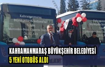 Kahramanmaraş'a Tam Donanımlı 5 Yeni Halk Otobüsü