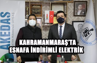 Kahramanmaraş'ta Esnafa İndirimli Elektrik