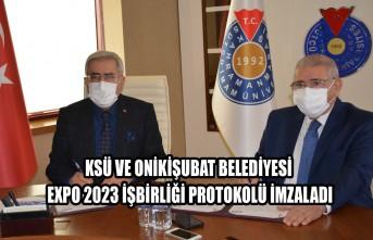 KSÜ ve Onikişubat Belediyesi EXPO 2023 İşbirliği Protokolü İmzaladı