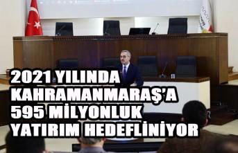 2021'de Kahramanmaraş'a 595 Milyonluk Yatırım
