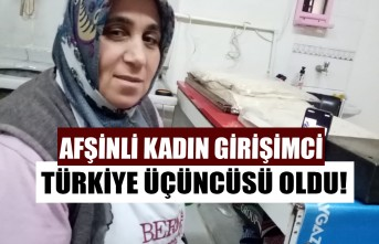 Afşinli Kadın Girişimci Türkiye Üçüncüsü Oldu!