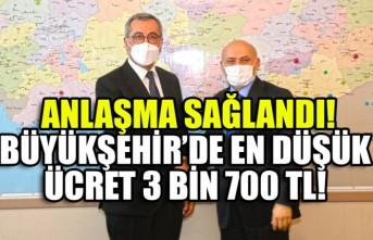 Kahramanmaraş Büyükşehir Belediyesinde En Düşük Ücret 3 bin 700 TL