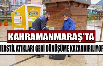 Kahramanmaraş'ta Tekstil Atıkları Geri Dönüşüme Kazandırılıyor