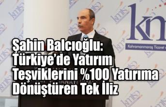 Şahin Balcıoğlu: Türkiye'de Yatırım Teşviklerini %100 Yatırıma Dönüştüren Tek İliz