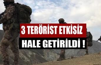 Zeytin Dalı Harekatı Bölgesinde Saldırı Hazırlığındaki 3 Terörist Etkisiz Hale Getirildi