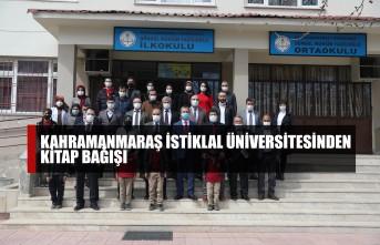 Kahramanmaraş İstiklal Üniversitesinden Kitap Bağışı
