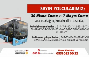 Kahramanmaraş'ta Toplu Taşıma Seferlerine Güncelleme