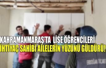 Kahramanmaraş'ta Lise Öğrencileri İhtiyaç Sahibi Ailelerin Yüzünü Güldürü