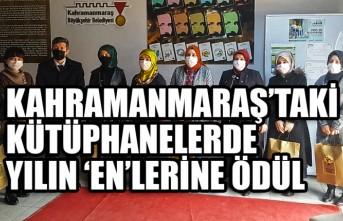 Kahramanmaraş'taki Kütüphanelerde Yılın 'En'lerine Ödül
