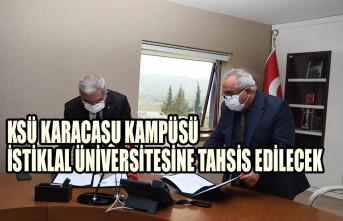 KSÜ Karacasu Kampüsü İstiklal Üniversitesine Tahsis Edilecek