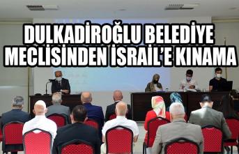 Dulkadiroğlu Belediye Meclisinden İsrail'e Kınama