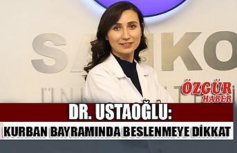 Dr. Ustaoğlu: Kurban Bayramında Beslenmeye Dikkat