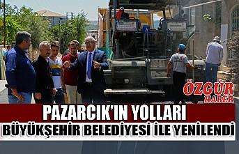 Pazarcık'ın Yolları Büyükşehir Belediyesi İle Yenilendi