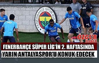 Fenerbahçe Süper Lig'in 2. Haftasında Yarın Antalyaspor'u Konuk Edecek