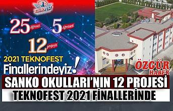 SANKO Okulları'nın 12 Projesi Teknofest 2021 Finallerinde