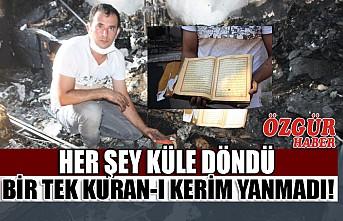Yangında Küle Dönen Evde Bir Tek Kur'an-I Kerimler Zarar Görmedi