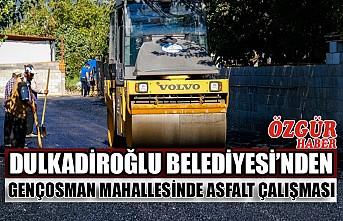 Dulkadiroğlu Belediyesi'nden Gençosman Mahallesinde Asfalt Çalışması