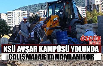 KSÜ Avşar Kampüsü Yolunda Çalışmalar Tamamlanıyor