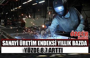 Sanayi Üretim Endeksi Yıllık Bazda Yüzde 8,7 Arttı